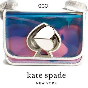 Kate Spade Nicola Optic White Iridescent Clear Bag